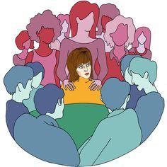 """My Convoluted Journey to Feminism"" article by Jane Fonda. Art by LAUREN CIERZAN"