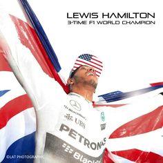 It's Lewis Hamilton's third F1 World Championship win, joining the ranks of Ayrton Senna, Niki Lauda and Jackie Stewart.