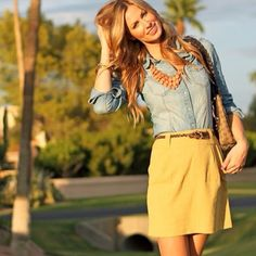 Summer outfit. Perfect for work. already have a shirt like this.. just need the skirt :)