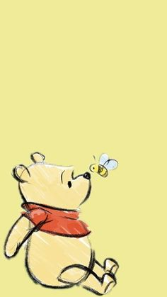 Cute Winnie The Pooh, Winnie The Pooh Quotes, Winnie The Pooh Friends, Eeyore Quotes, Cute Disney Wallpaper, Cute Cartoon Wallpapers, Wallpaper Iphone Cute, Wallpaper Lockscreen, Cute Backgrounds