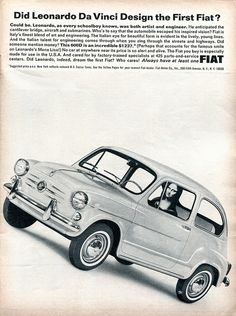 1965 Fiat 600D Advertisement Road & Track September 1965 | Flickr - Photo Sharing!