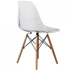 Eames Inspired Clear DSW Style Chair - Eames Inspired from Only Home UK
