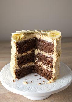chocolate cake + peanut buttercream