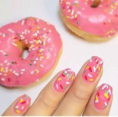 hermosas uñas de dona