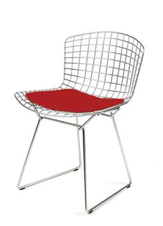 Always a classic - the Bertoia can stand alone or pair nicely with any dining or side table - Bertoia Side Chair with Seat Cushion - Knoll - $677.00