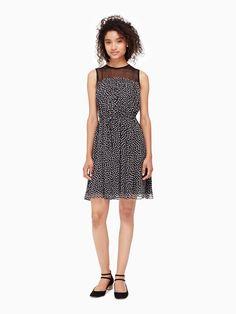 KATE SPADE spot chiffon dress. #katespade #cloth #