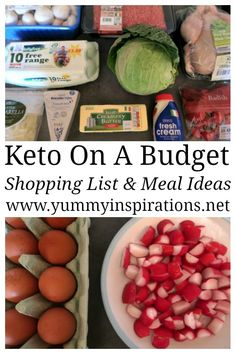 Keto On A Budget - Grocery Shopping List and Meal Plan Ideas #ketoonabudget #keto #ketodiet #ketogenic #ketogenicdiet #diet #dieting #dietplan