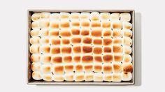 Pumpkin Sheet Cake With Toasted Marshmallows Recipe | Bon Appetit