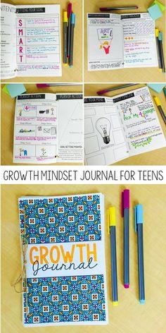 Growth mindset journal for teens | grades 6-12 | SMART goals | Life planning