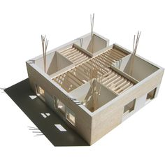 Really nice materials on a model of a project by TEdA arquitectes
