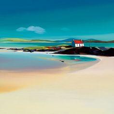 Watercolor Landscape, Landscape Art, Landscape Paintings, Watercolor Art, Glasgow School Of Art, Seascape Paintings, Beach Scenes, Beach Art, Painting Inspiration
