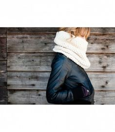 WINDSOR HAND KNIT WARMER SCARF IN CREME  BY LUCKY 14 HANDMADE  $70.00