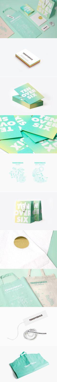 Ten Over Six Beauty in pastel identity packaging branding PD