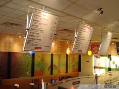 acrylic menu boards | Display your brand messages proudly with custom indoor Wall Frames to ...