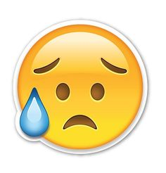 """Interpretation: """"I'm so sad."""" Name + meaning: Disappointed but Relieved Face. This Emoji has sweat dripping from its brow, presumably due to a Emoji Stickers, Tumblr Stickers, Stress Humor, Emoji Clipart, Naughty Emoji, Crying Face, Emoji Design, Funny Emoticons, Smileys"""