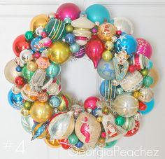 Vintage-ornament wreath
