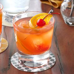 signature drink idea #2: Brandy Old-Fashioned Sweet Recipe