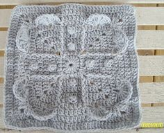 "DragonFlyMomof2 Designs© & Designs on a Hook: NEVER ENDING LOVE 12"" SQUARE"