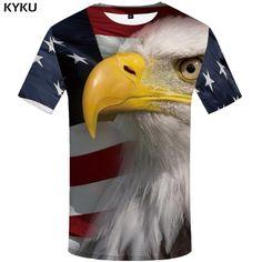 91283810 KYKU Brand USA T Shirt Men American Flag T-shirt United States Tshirt 3d T