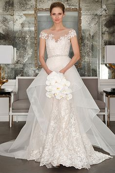 Wedding gown by Romona Keveza Collection Bridal (Style RK7407)