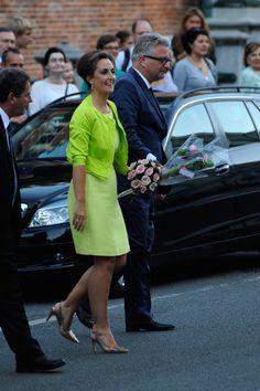 Belgian Princess Claire and Prince Laurent depart the concert held ahead of Belgium abdication & coronation on 20 July 2013 in Brussels, Belgium.