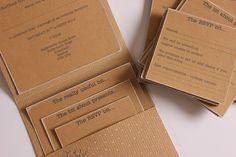 DIY Tutorial: Kraft Pocketfold Invitations
