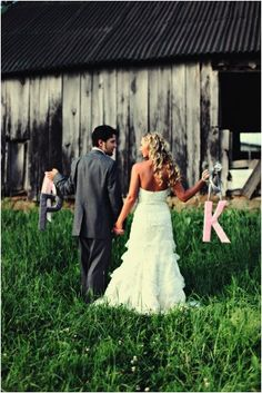 Wedding- couple's initials