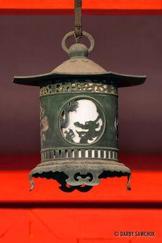 Hanging lantern at Heian Shrine, Kyoto, Japan… Garden Lanterns, Hanging Lanterns, Style Asiatique, Art Chinois, Stone Lantern, Turning Japanese, Japanese House, Japanese Gardens, Japanese Architecture