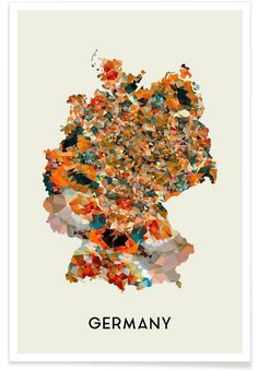 Germany als Premium poster door In Full Color | JUNIQE