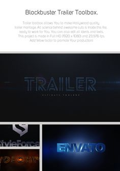 After Effects Project Files - Blockbuster Trailer Toolbox | VideoHive
