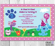 Blues Clues Birthday Party Personalized by CreatebyRachelKate, $7.00