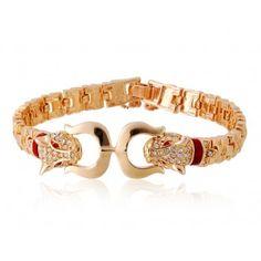 Leopard Design 18K RGP Alloy Bracelet