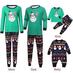 K-Youth Ropa para Padres e Hijos Pijamas de Navidad Familiar Conjuntos Bebe Ni/ño Navidad Pareja Disfraz Ropa Mujer Hombre Invierno Beb/é Ni/ña Chandal Ropa de Dormir Familiares