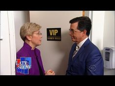 Elizabeth Warren May Or May Not Be Hillary's Running Mate | While hunting for clues about Hillary Clinton's choice for a running mate, Stephen finds the writing is on the wall.