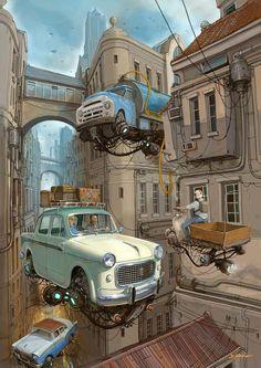 Alejandro Burdisio Burda auto vintage post futuriste – laboratorio creativo