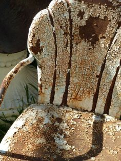 #Rustic #Rusty - rusty garden chair