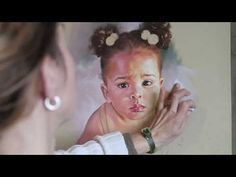 Video of professional portrait artist at work!  How to make a pastel portrait step by step - YouTube