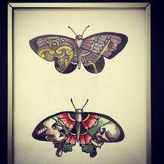 Butterflies Vintage Butterfly Tattoo, Butterfly Tattoo Cover Up, Butterfly Tattoo Meaning, Butterfly Tattoo On Shoulder, Butterfly Tattoos For Women, Butterfly Tattoo Designs, Vintage Tattoos, Unique Tattoos, Small Tattoos