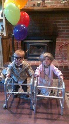 Originally I was just going to dress my boy up as the old man from UP. He is 12 months old. Then I thought why not dress him up with his lady friend w...