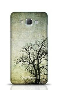 Grunge Frame With Tree Silhouettes Samsung Galaxy A5 Phone Case