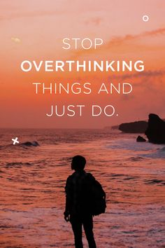 Stop overanalyzing everything. If it feels right, go with it. If it feels wrong, don't spend another second thinking about it. Walk away. Whatever you decide today, just go with it! Sleep Quality, Natural Solutions, Happy People, Health Quotes, Monday Motivation, Just Go, Health And Wellness, Feels, Relax