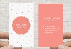 i would love to have business cards like this. For my upcoming photography business. Spots Confetti Calling by inmystudioo Vertical Business Cards, Elegant Business Cards, Custom Business Cards, Business Card Maker, Business Branding, Business Card Design, Corporate Design, Branding Design, Cover Design