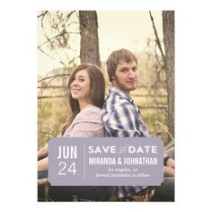 Classy Lavender Photo Save The Date Announcements
