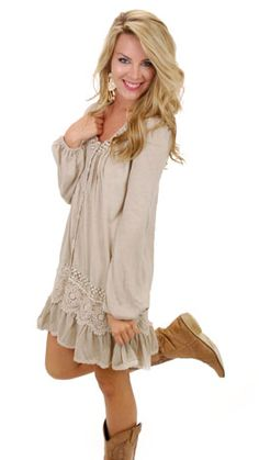 Cora Tunic, Beige :: NEW ARRIVALS :: The Blue Door Boutique