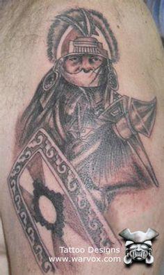 Pre-Hispanic Warrior Tattoo » ₪ AZTEC TATTOOS ₪ Aztec Mayan Inca Tattoo Designs Instant Download