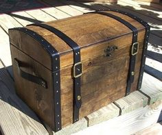 Pirate Chest w/Straps and Buckles by TreasureChestKits on Etsy, $135.00