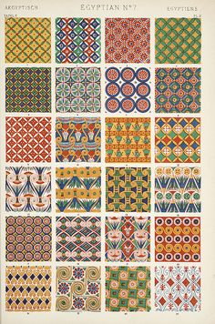 """Image Plate from Owen Jones' 1853 classic, """"The Grammar of Ornament"""". Just like the look as colors!"""