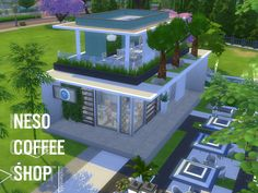 This is a small coffee shop. Found in TSR Category 'Sims 4 Community Lots'