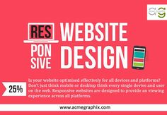 Our Responsive Website Design Services, your website will look great across Web & Mobile devices providing better user experience to your customers. http://www.acmegraphix.com/