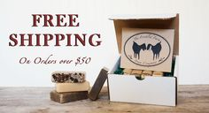 Free shipping on orders over $50 from The Freckled Farm Soap Company! It's time to stock up for the winter, when the benefits of our soap really shine! Not to mention goat milk soap makes a great gift